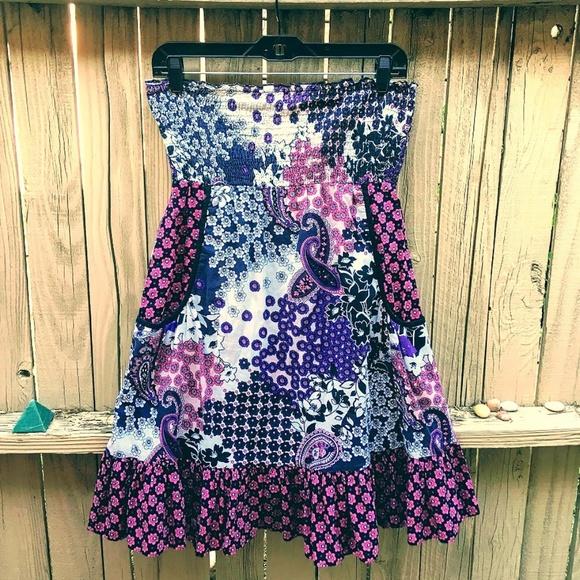 No Boundaries Dresses & Skirts - No Boundaries Floral Paisley Swimsuit cover-up